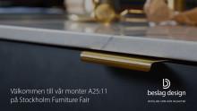 Beslag Design ställer ut på Stockholm Furniture Fair 2019