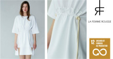 I modeugen lancerer dansk designer ny tøjkollektion syet af erhvervslivets kasserede tekstiler