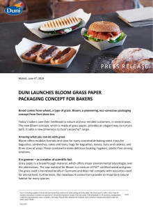 DUNI LAUNCHES BLOOM GRASS PAPER PACKAGING CONCEPT FOR BAKERS