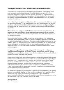 Socialtjänstens arbete med brottsdrabbade - fritt valt arbete? (debattartikel)
