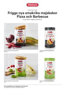 Friggs bildblad - Smaksatta majskakor Barbeque och Pizza