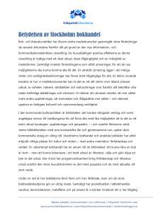 Betydelsen av Stockholms bokhandel