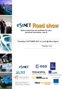 Invitation ESINET Road Show 2011-10-06