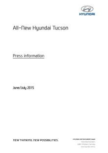 Nya Tucson teknisk information