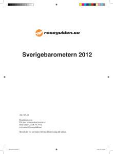 Reseguidens Sverigebarometer 2012 - hela sommarstadslistan