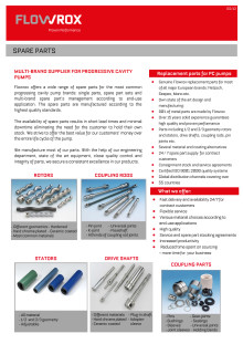 Flowrox Service Spare Parts ENG