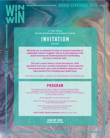 WIN WIN Gothenburg Sustainability Award Ceremony 2019.10.31