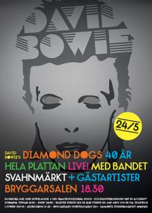 Julafton för alla David Bowie-fans - spektakulär show den 24 maj i Bryggarsalen