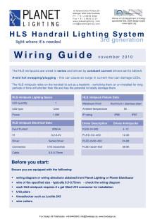 Installationsanvisning HLS ledstångsbelysning.