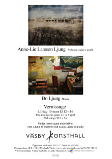 Vernissage Anne-Lie Larsson Ljung och Bo Ljung 10 mars 2018