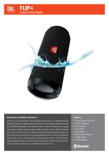 JBL Flip 4 Spec Sheet English