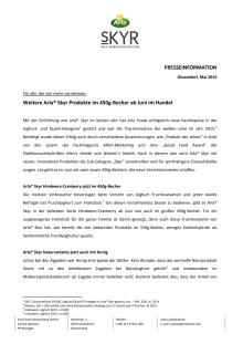 PM_Fachpresse_Arla® Skyr weitere Sorten im 450g-Becher