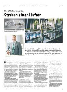Styrkan sitter i luften (läs artikeln från Fluid Scandinavias bilaga i Dagens Industri)