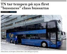 Travel News tar tempen på 1st Bussness Class