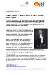 Patrick Slaatten på Värmdö utsedd till Shell/7-Elevens bästa köpman