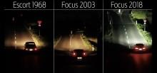 Dunkelheit? Neue Scheinwerfer-Technologie von Ford verbessert nachts die Erkennbarkeit von Radfahrern in Kurven