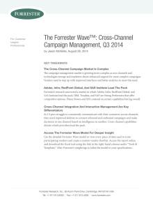 The Forrester Wave™:Cross-Channel Campaign Management Platforms, Q3 2014