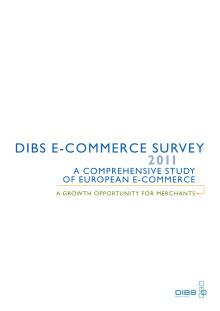 DIBS e-handelsindex 2011