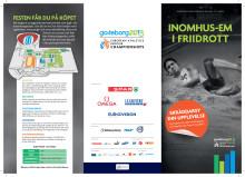 Biljettfolder inomhus-EM i friidrott 2013