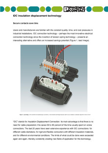 IDC insulation displacement technology