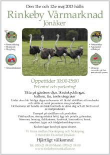 Vårmarknad 11-12 maj Rinkeby Struts