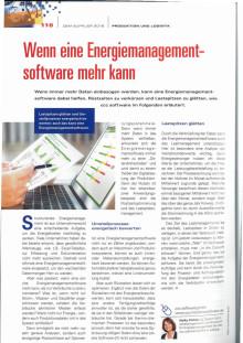"""Pressestimmen: """"Wenn eine Energiemanagementsoftware mehr kann"""" in OEM Supplier"""