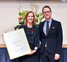 Helena Saxon utsedd till Årets Alumn 2018