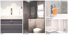 Fredells nya badrumsmiljöer blandar tidlös form med trendiga inslag