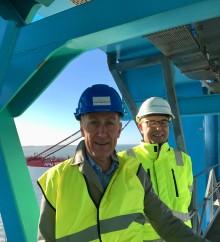 Svenskt Näringslivs nya vd väljer APM Terminals för sitt första officiella företagsbesök