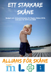 Allians för Skånes budget för Region Skåne 2018