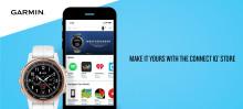 Garmin® lanserar Connect IQ Store, en allt-i-ett app för att göra enheten mer personlig och hantera innehållet