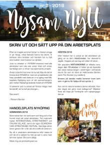 Nysam Nytt no 3 2018