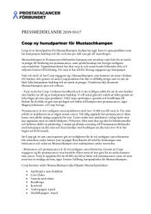Pressmeddelande - Coop ny huvudpartner för Mustaschkampen