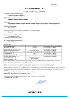 Prestandadeklaration Norgips Ultra Board® 13