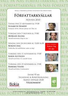 Författarkvällar på Astrid Lindgrens Näs hösten 2010