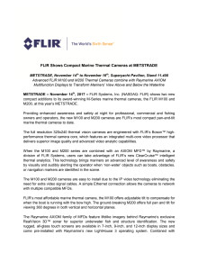 FLIR: METSTRADE Press Kit - Press Release #3
