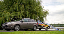 Ford Focus med elektrisk innfellbart tilhengerfeste