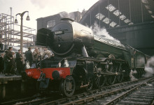 Superstar 'Scotsman' flies into North West railway