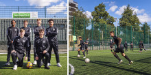 Football academy students score free travel with Great Northern and Thameslink