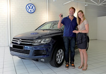 Swimming star Ian Thorpe drives Volkswagen Touareg