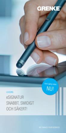 E-signatur , flyer GRENKE