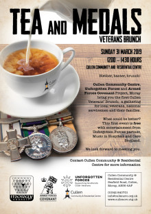 Cullen volunteers organise 'Tea and Medals' event for veterans and service personnel