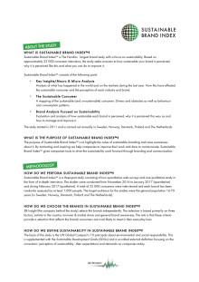 Metod - Sustainable Brand Index 2017