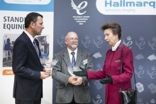 HRH The Princess Royal presents two Queen's Awards to Hallmarq Veterinary Imaging.