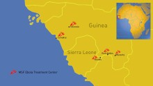 Nya ebolafall i Guinea och Sierra Leone