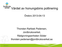 Värdet av binas pollinering
