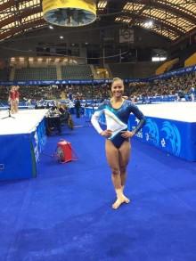 Marcela Torres elva i hopp på EM i artistisk gymnastik