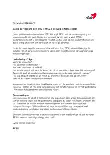 Brevet till partiledare och elever i RFSU:s sexualpolitiska skola