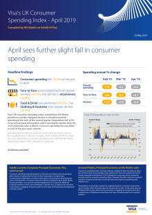 Visa's UK Consumer Spending Index - April 2019