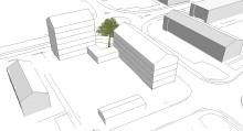 Antagen detaljplan för 40-50 lägenheter på Grisbacka